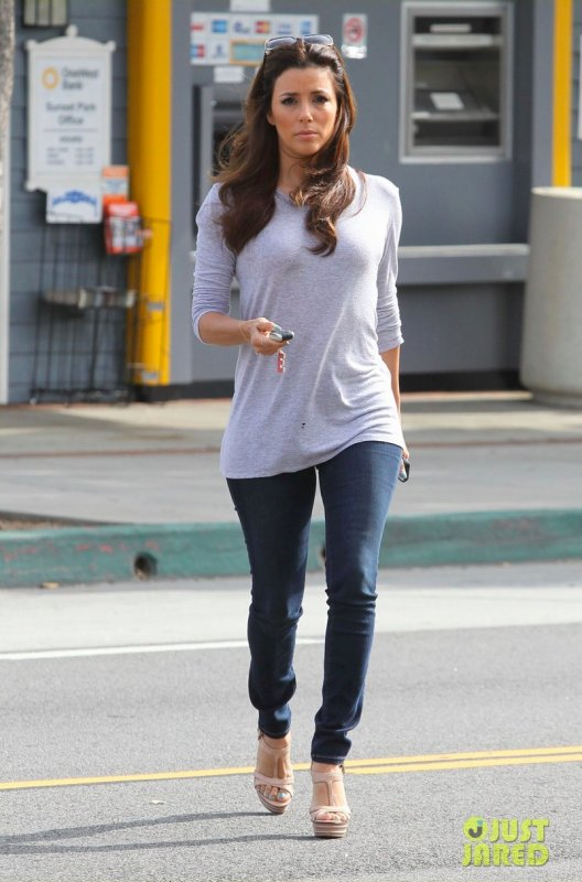 Eva Longoria de sortie. West Hollywood, Californie