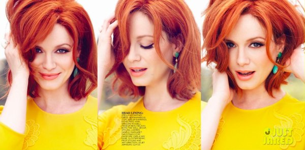 Christina Hendricks pose pour Flare.