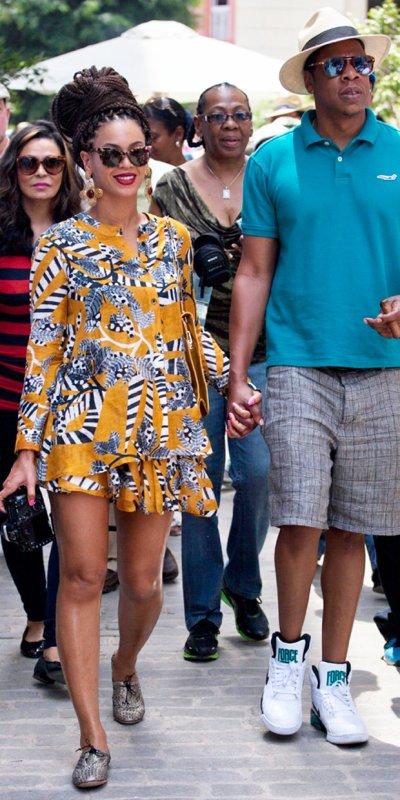 Beyonce de sortie. Cuba