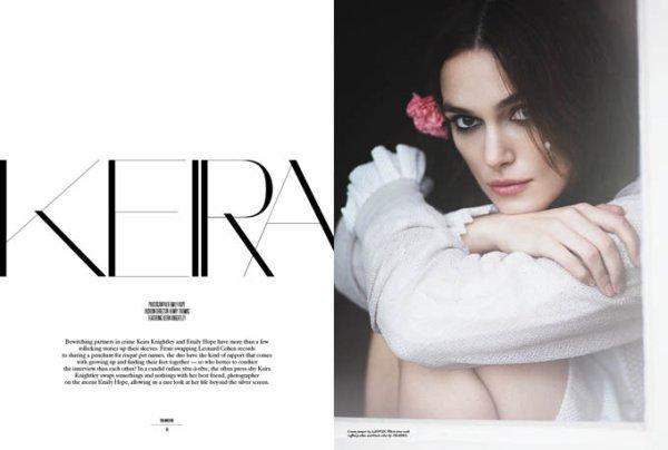 Keira Knightley pose pour Rika Magazine.