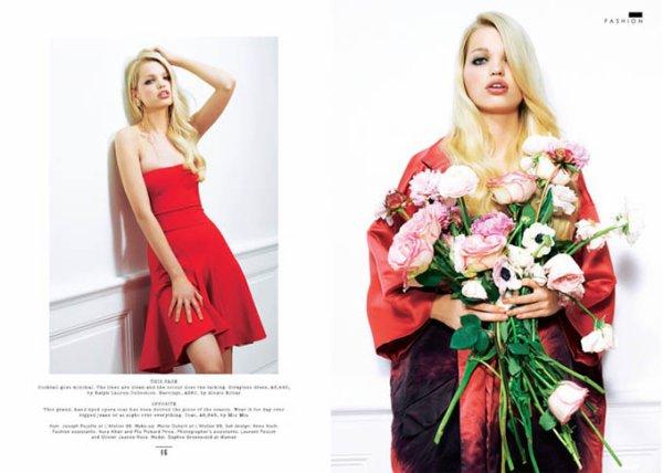 Daphne Groeneveld pose pour le Sunday Times Style UK.