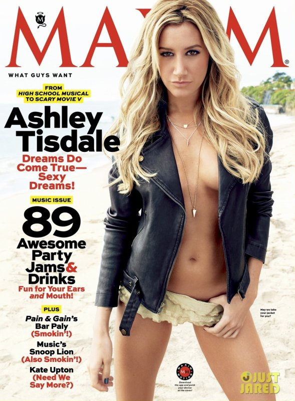 Ashley Tisdale pose pour Maxim.