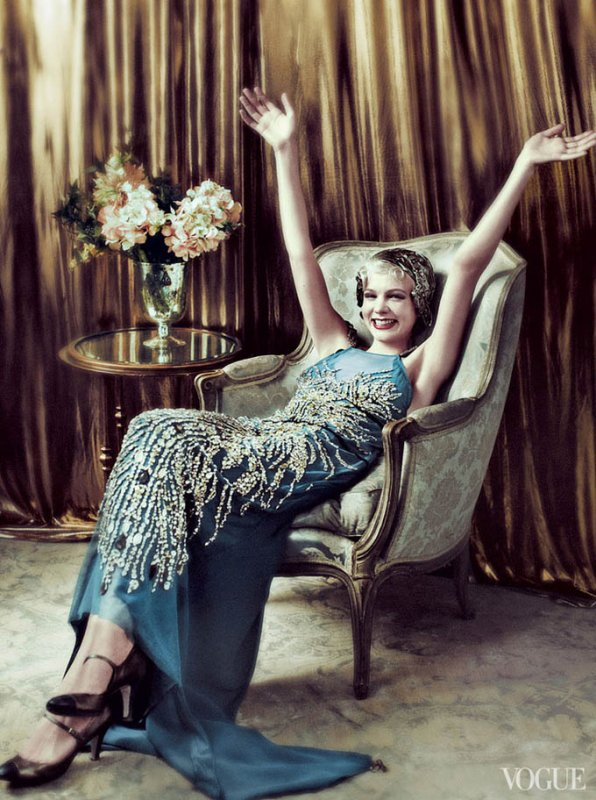 Carey Mulligan pose pour Vogue.