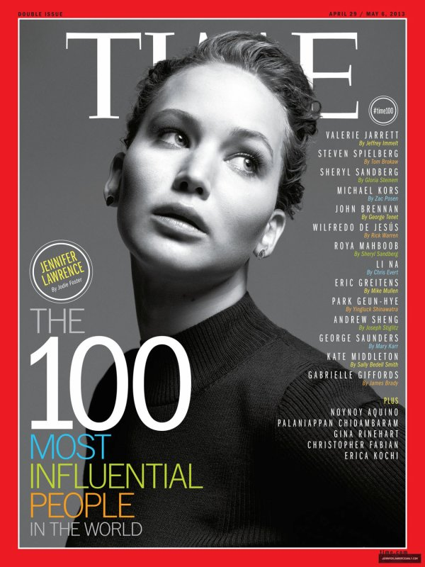 Jennifer Lawrence pose pour le Time.