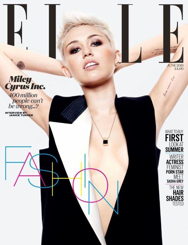 Miley Cyrus pose pour ELLE.