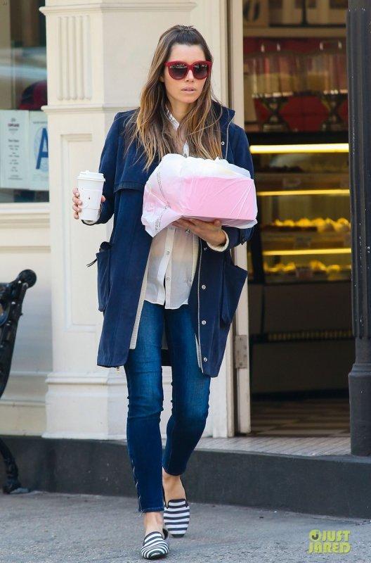 Jessica Biel de sortie. New York