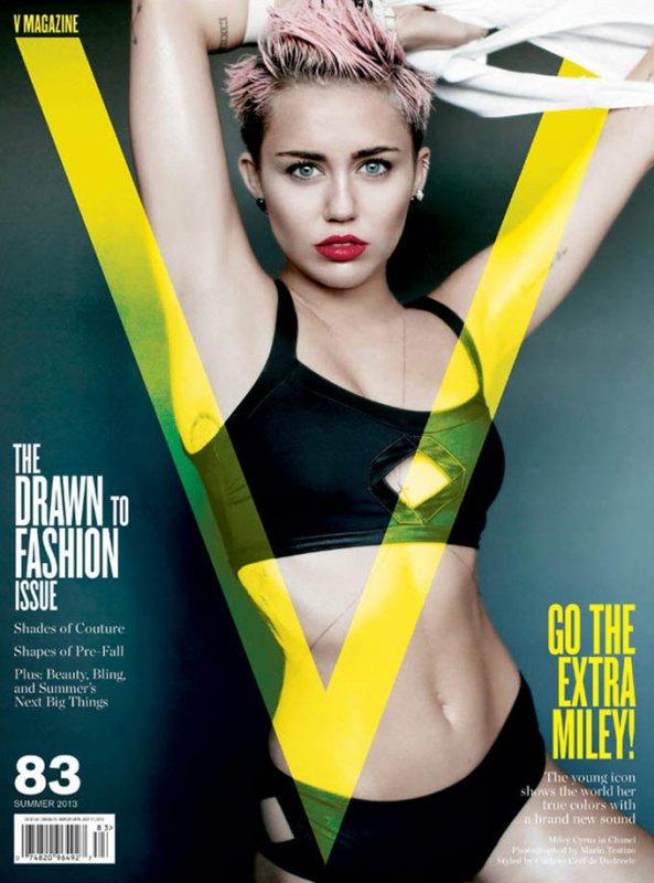 Miley Cyrus pose pour V magazine.