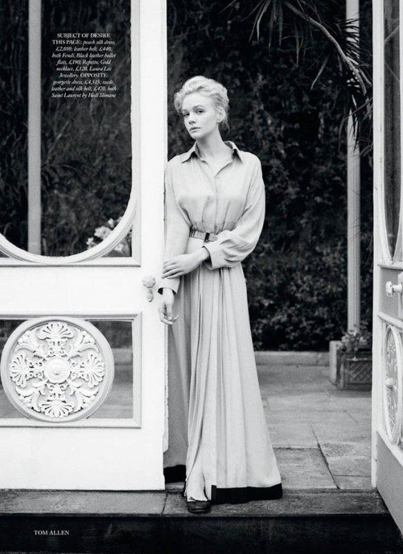 Carey Mulligan pose pour Harper's Bazaar.