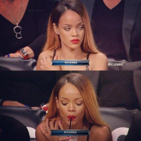 Rihanna à un match de basket.