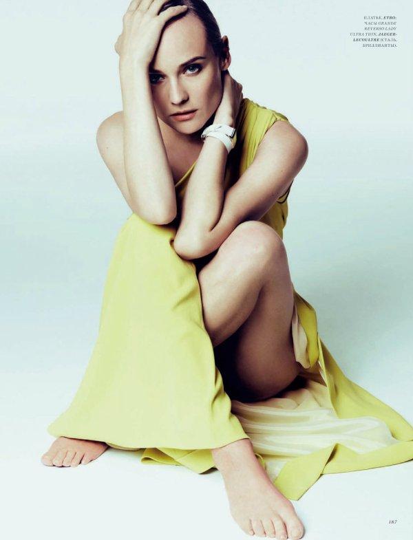 Diane Kruger pose pour Harper's Bazaar.