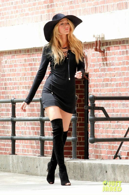 Blake Lively sur un photoshoot. New York