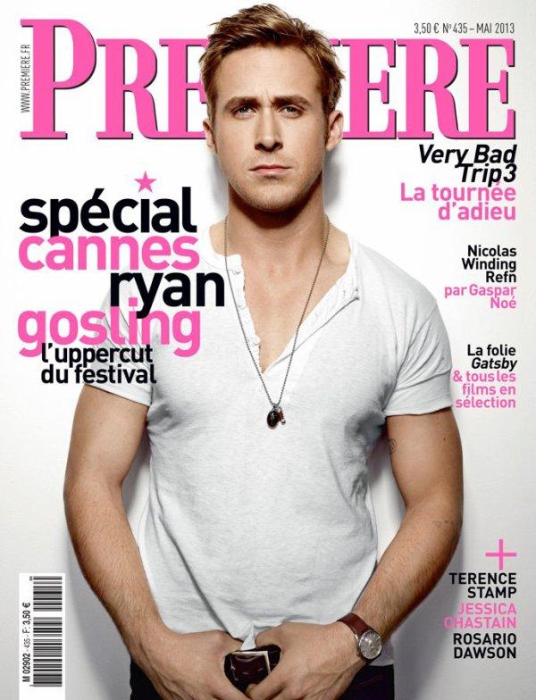 Ryan Gosling en couverture du magasine Première.