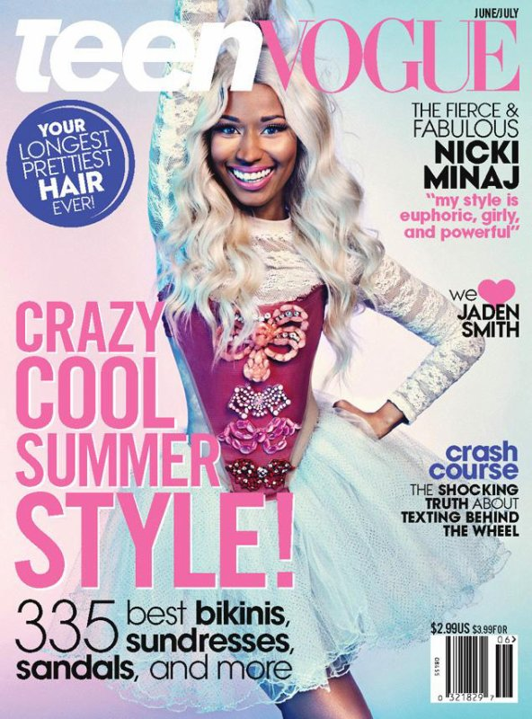 Nicki Minaj pose pour Teen Vogue.