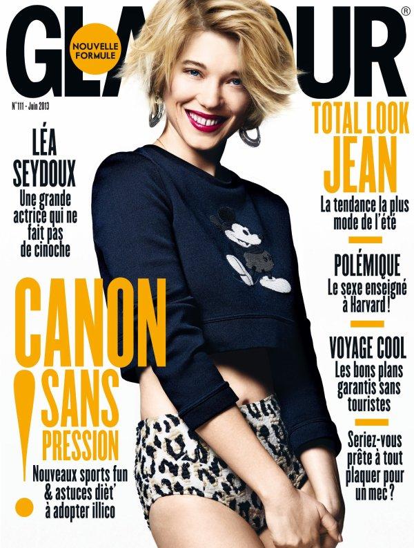 Léa Seydoux pose pour Glamour.