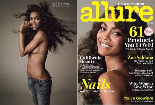 Zoe Saldana pose pour Allure.