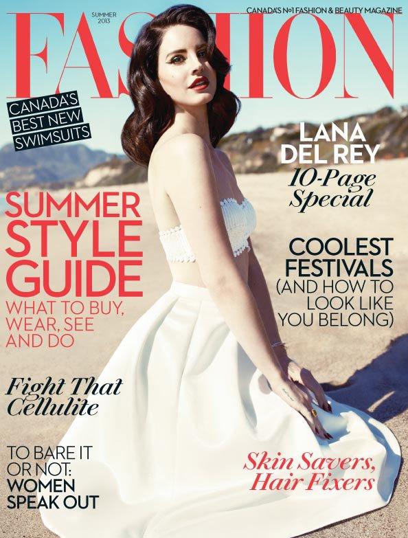 Lana Del Rey pose pour Fashion.