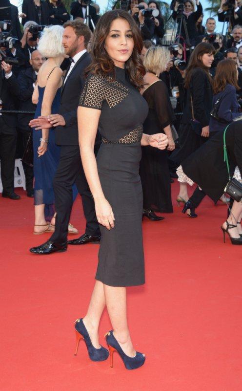 Leïla Bekhti sur le tapis rouge. Cannes