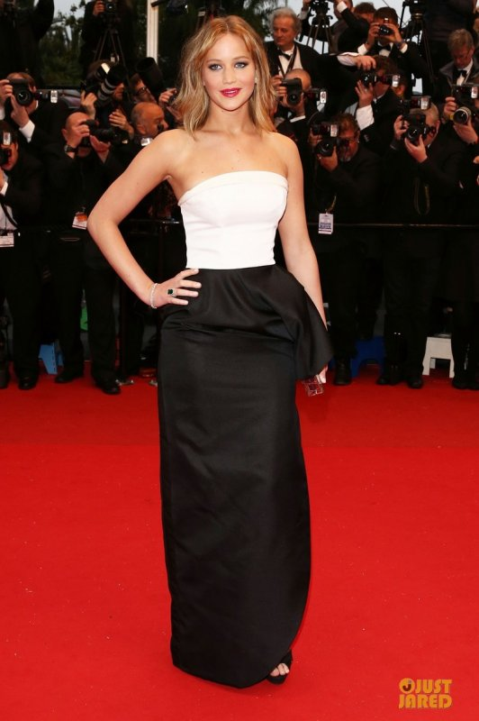 Jennifer Lawrence au festival de Cannes.