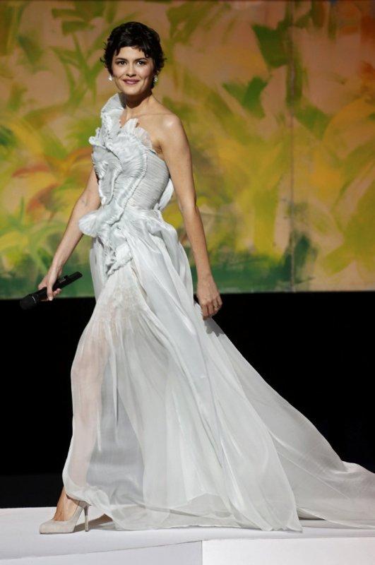 Audrey Tautou à la cérémonie d'ouverture du festival de Cannes.