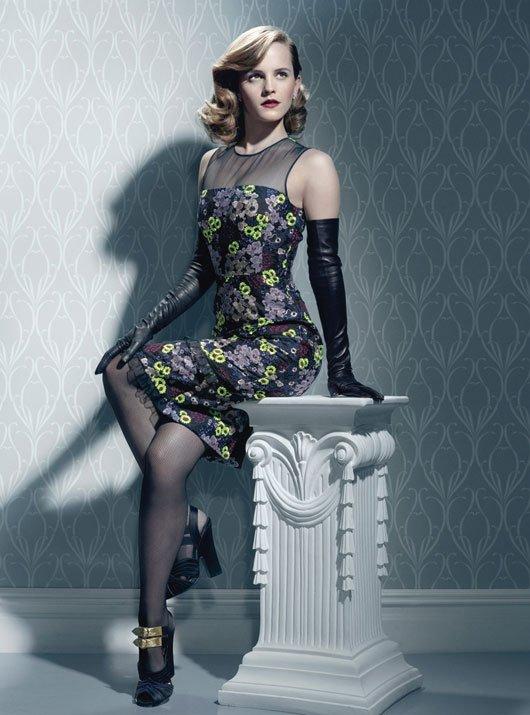 Emma Watson pose pour W.
