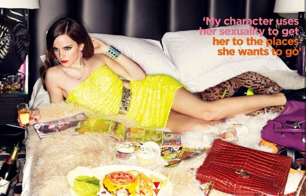Emma Watson pose pour GQ.