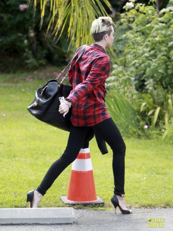 Miley Cyrus de sortie.