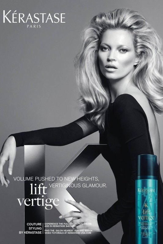 Kate Moss pose pour Kérastase.