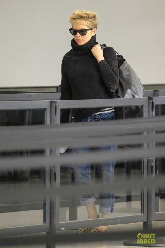 Michelle Williams à l'aéroport JFK. New York