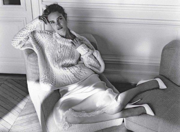 Natalia Vodianova pose pour le magasine WSJ.