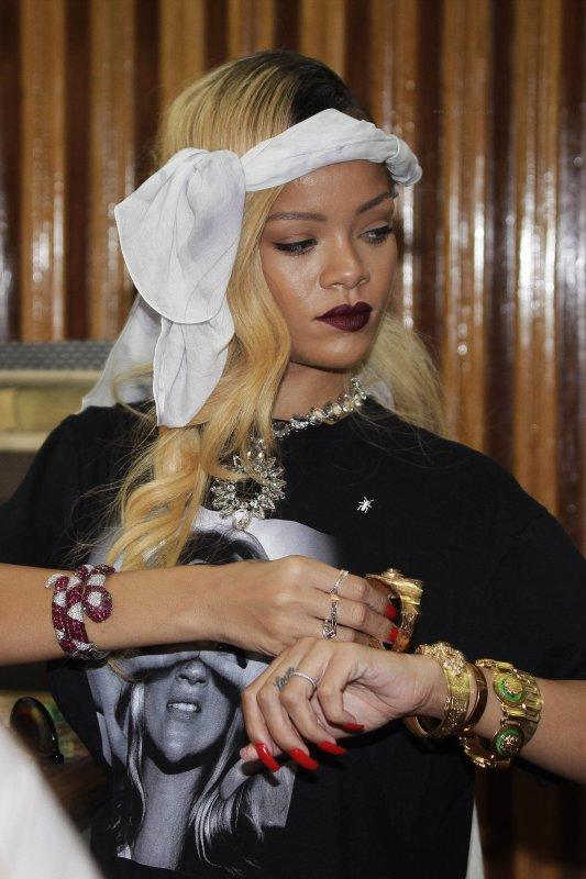 Rihanna de sortie. Maroc