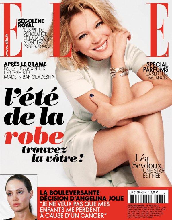 Léa Seydoux pose pour ELLE.