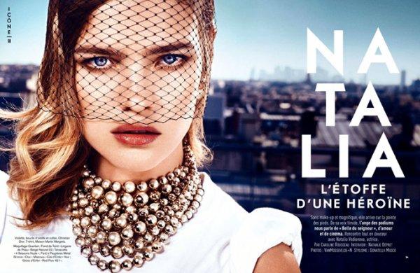Natalia Vodianova pose pour Glamour.