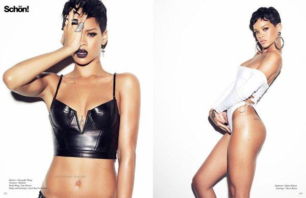 Rihanna dans le magasine Schon.