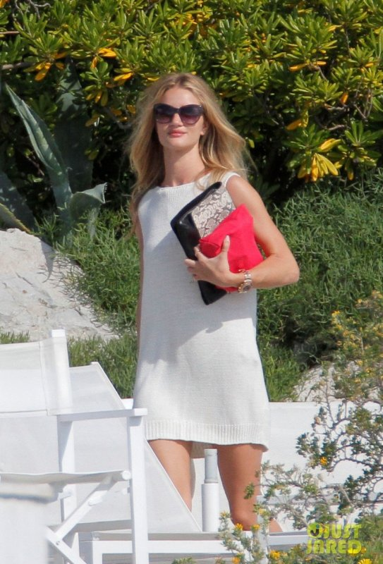 Rosie Huntington Whiteley en vacances.