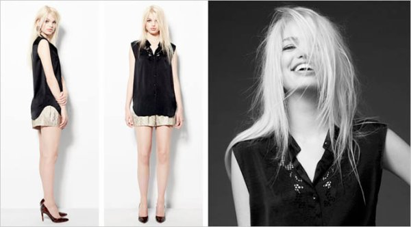 Daphne Groeneveld pose pour H&M.