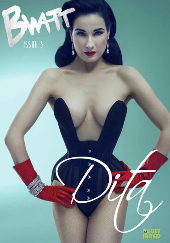 Dita Von Teese pose pour Bwatt.
