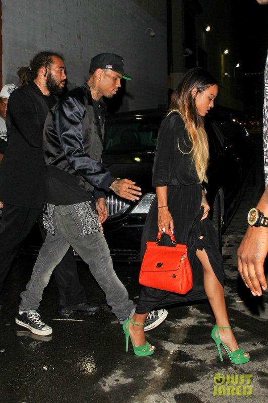 Chris Brown et sa copine Karrueche Tran de sortie. Los Angeles
