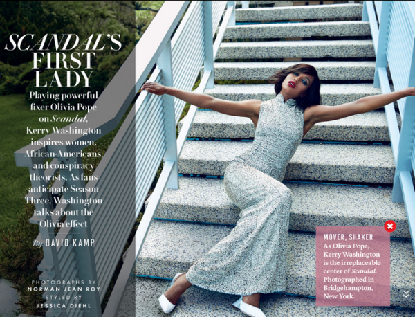 Kerry Washington pose pour Vanity Fair.