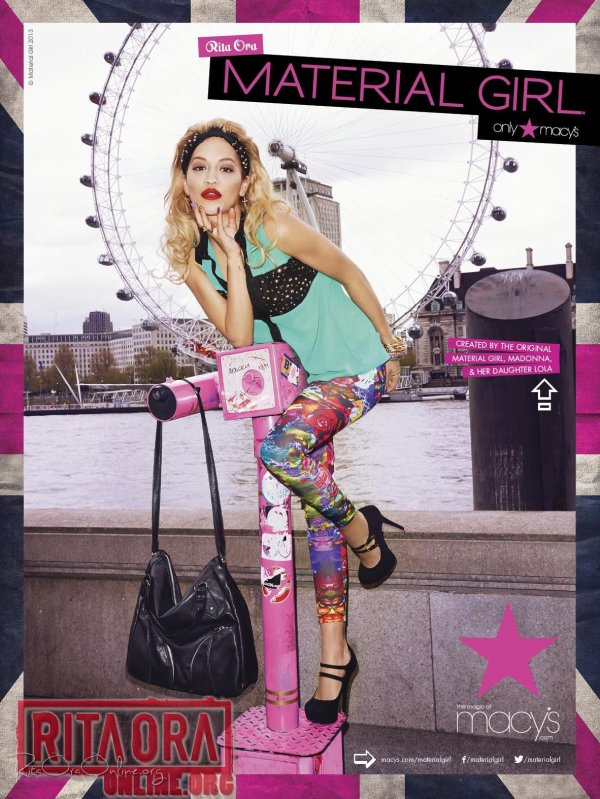 Rita Ora pose pour Material Girl.