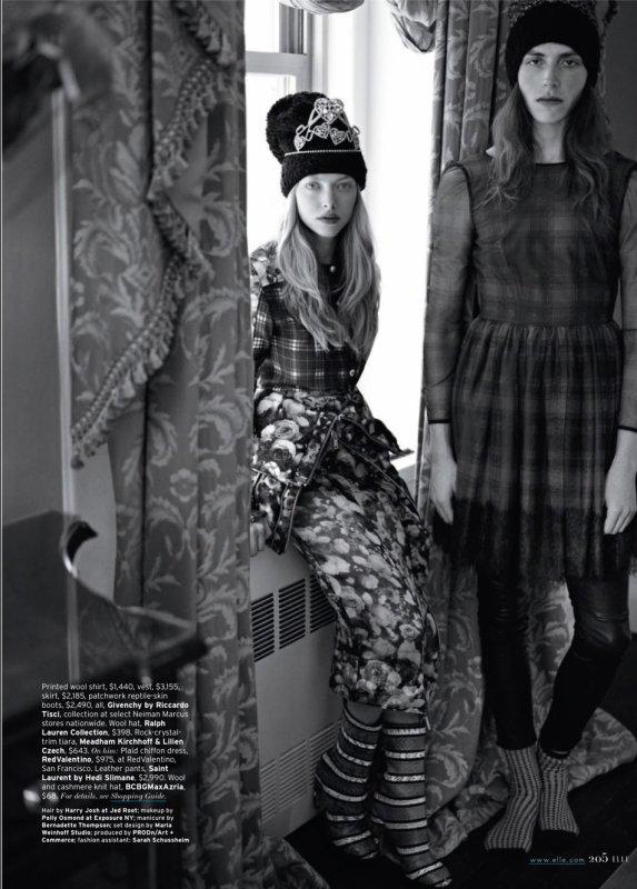 Amanda Seyfried pose pour ELLE.