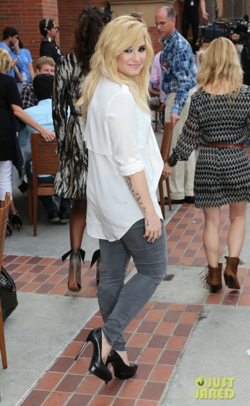 Demi Lovato aux auditions d'X Factor. Los Angeles