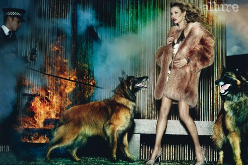 Kate Moss pose pour Allure.