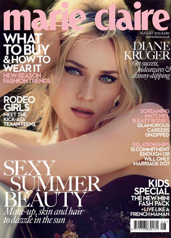 Diane Kruger pose pour Marie Claire.