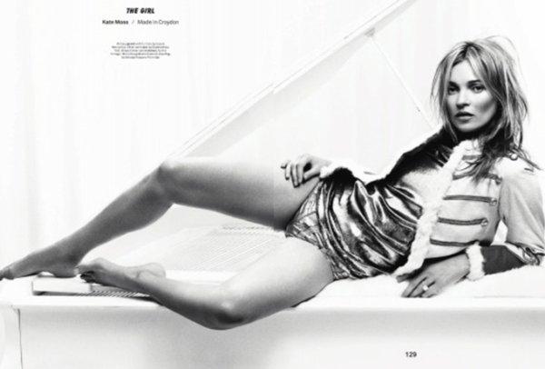 Kate Moss pose pour Esquire.