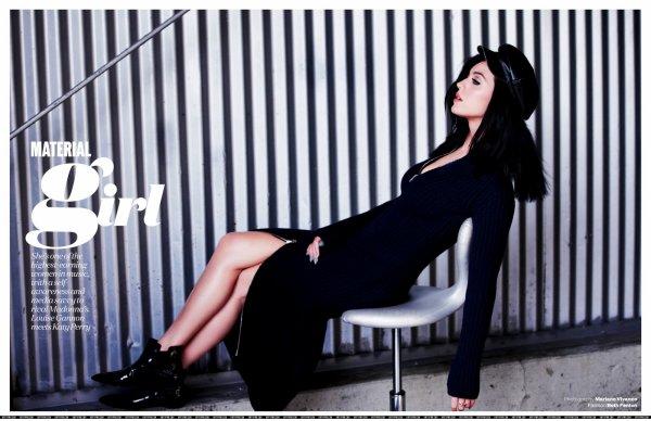 Katy Perry pose pour ELLE.