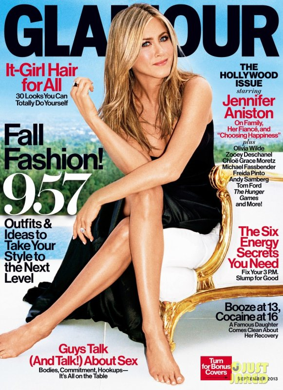 Jennifer Aniston pose pour Glamour.