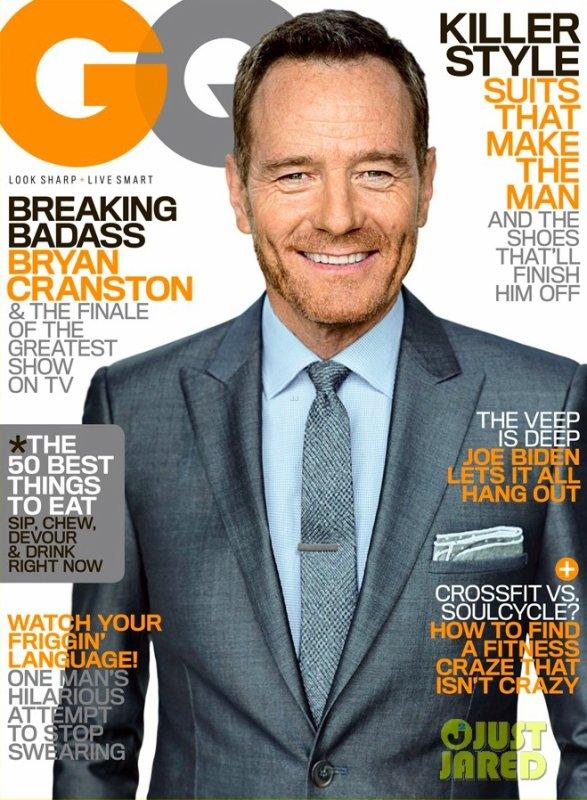 Bryan Cranston pose pour GQ.