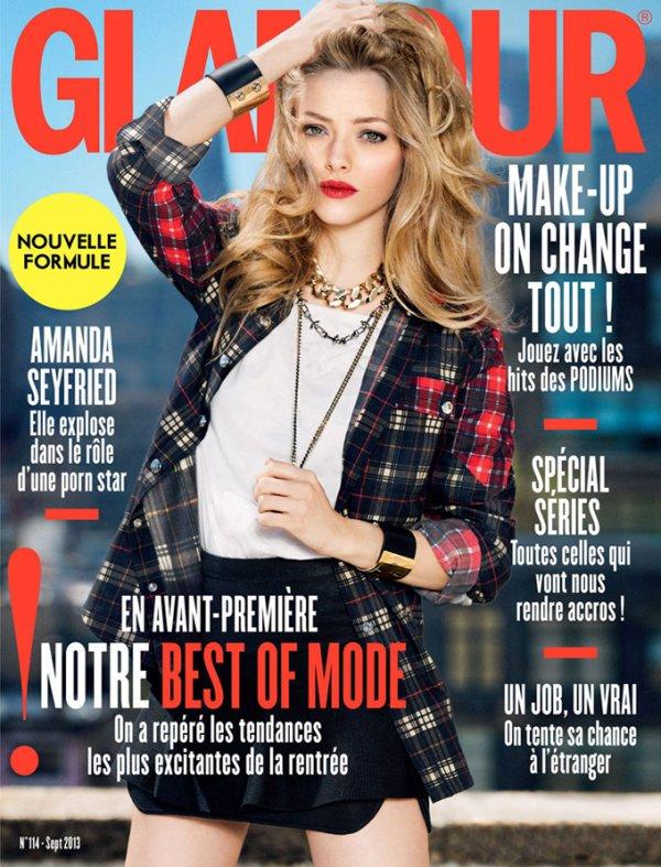 Amanda Seyfried pose pour Glamour.
