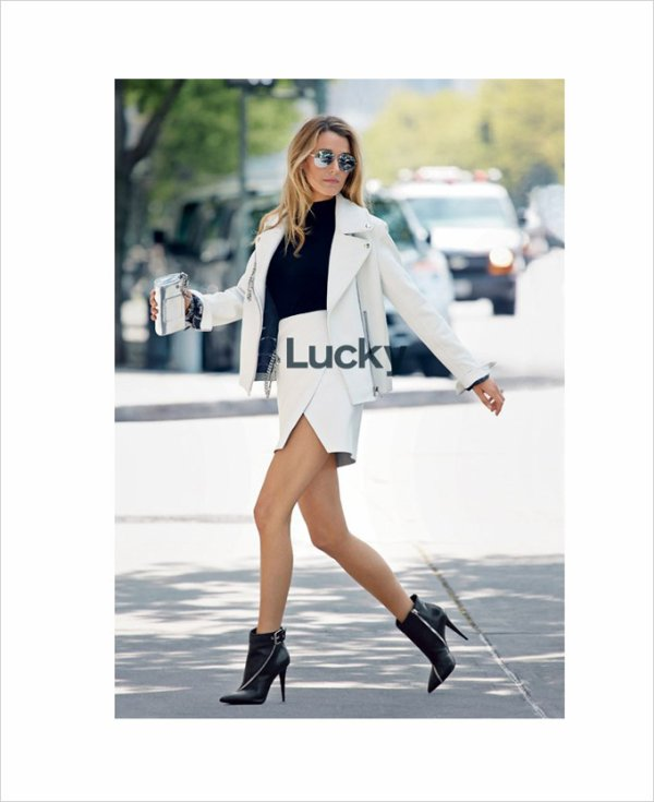 Blake Lively pose pour Lucky.