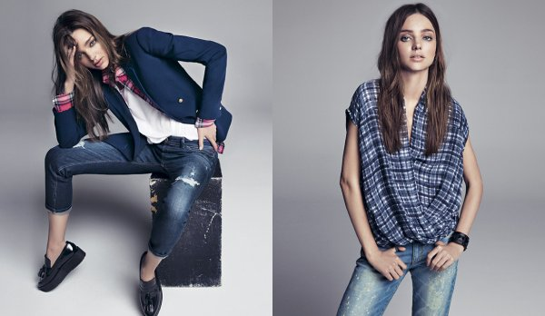Miranda Kerr pose pour Mango. automne / hiver 2013-2014